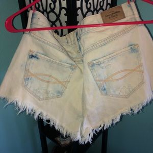 Abercrombie and Fitch bleached denim shorts
